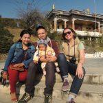 Dipendras Frau Muna, Sohn Oskar und meine Bekannte Helen...Wochenendausflug mit Freunden