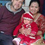Divyam mit Muna am Tag des ersten Reisessens