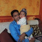 unser Projektkoordinator Dipendra mit Sohn Divyam
